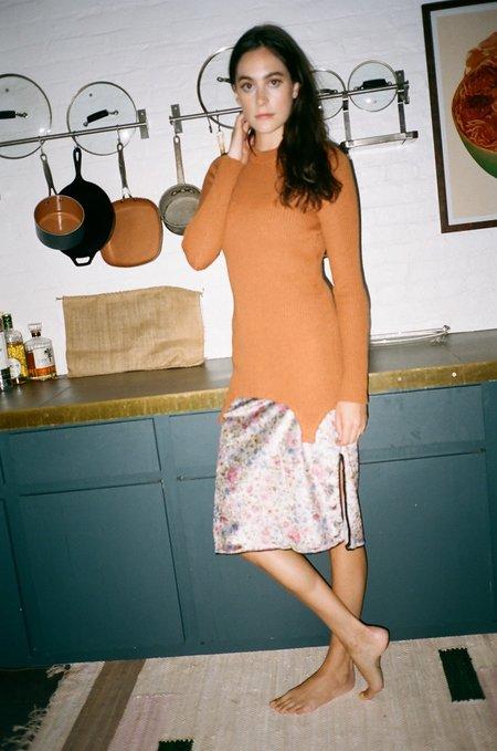 Bevza Corset Hem Sweater - Rust