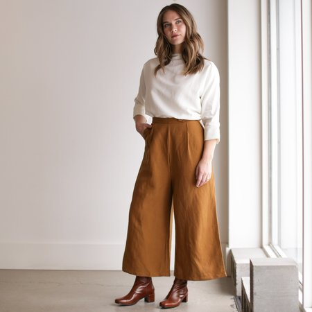 Ozma Studio Trouser - Copper Silk Linen