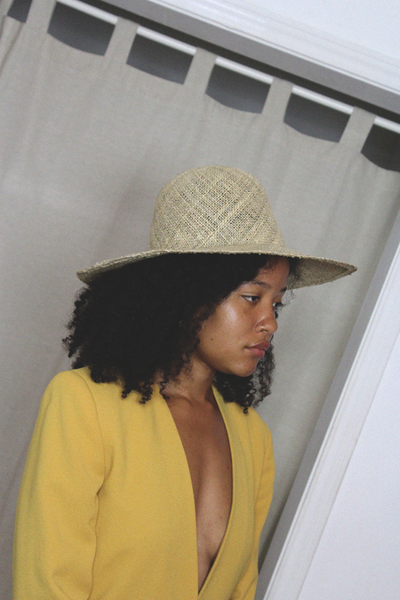 Unisex Las Cruxes CLYDE Dome Panama Hat - Seagrass