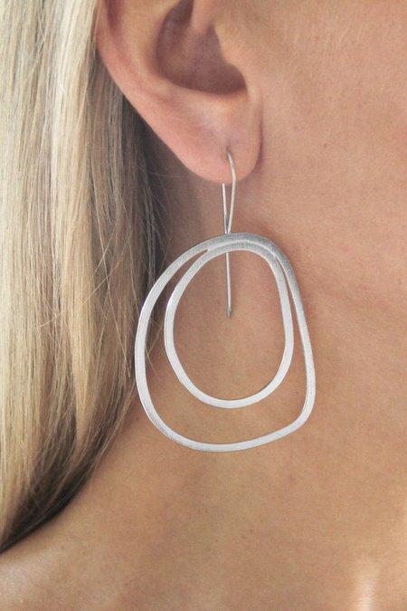 TOTHEMETAL PEACOCK EARRINGS - sterling silver