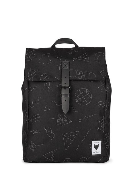 UNISEX The Pack Society SQUARE EMBROIDERY BACKPACK - BLACK