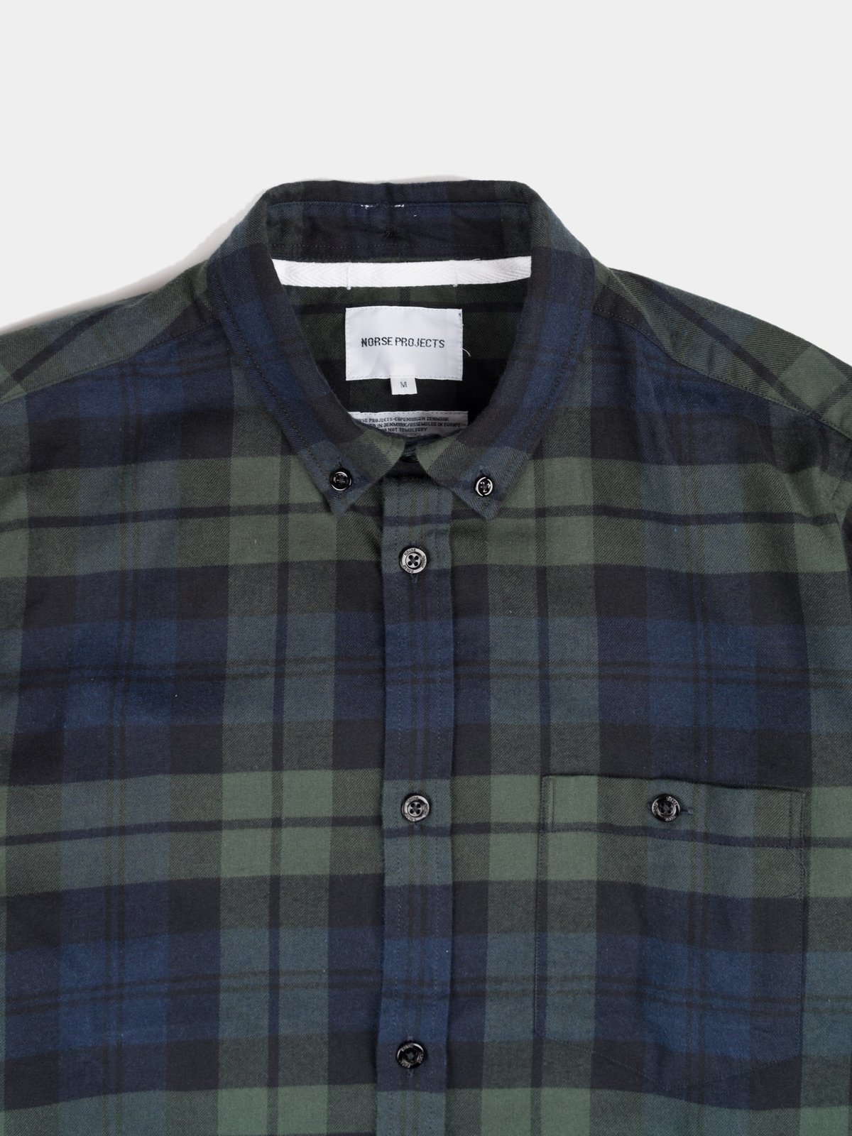 988369b0b7 Norse Projects Anton Flannel Check Shirt - Black Watch Check ...