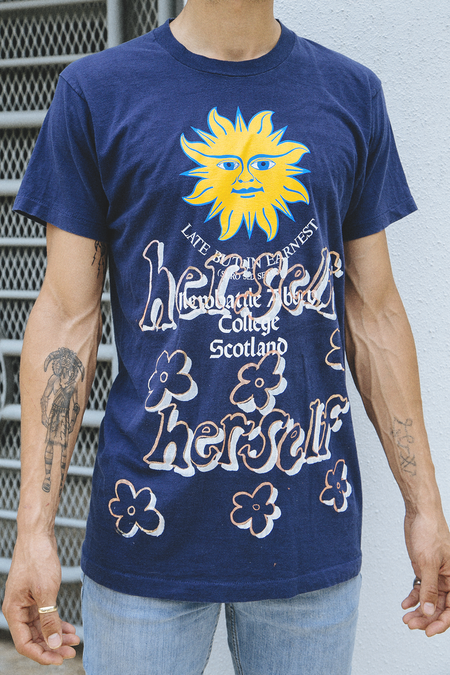 Waggy Tee Herself Herself Tee - Navy Sun