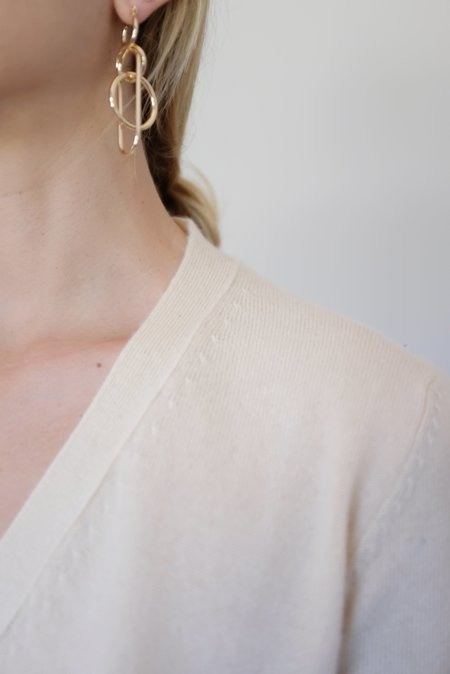 Beklina Cashmere Cardigan Sweater - Rattan