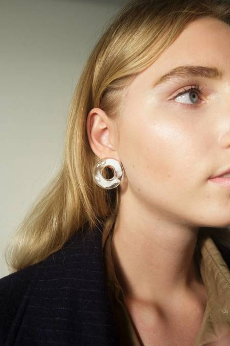 Mars Halo Stud Earrings