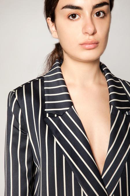 Just Female Laurent Blazer - Blue/White Stripe