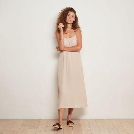 THE ODELLS Triangle Keyhole Dress - Sand