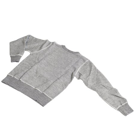 Buzz Rickson's Loopwheel Crewneck - Heather Gray