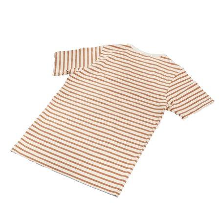 Merz B. Schwanen 2M15 Striped T-Shirt - Nature/Light Rust