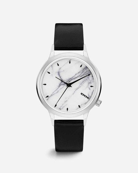 Komono Lexi Marble Watch - White Marble