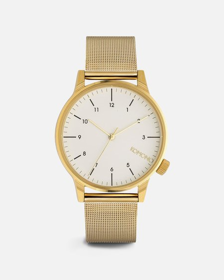 Komono Winston Royale Watch - Gold/White