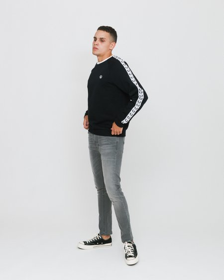 Fred Perry Taped Crew Neck Sweatshirt - Black