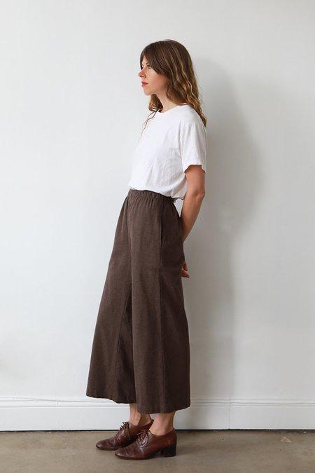 Me & Arrow Flannel Sailor Pants - Brown