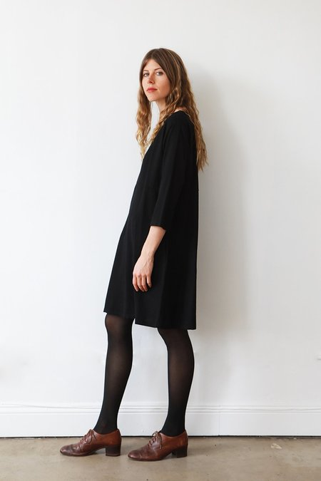 Me & Arrow 3/4 Sleeve Basic Dress - Black