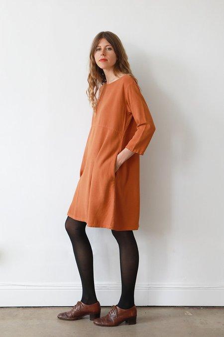 Me & Arrow 3/4 Sleeve Basic Dress - Persimmon