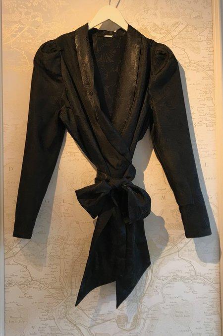 Dodo Bar Or Merilyn Wrap Shirt - Black