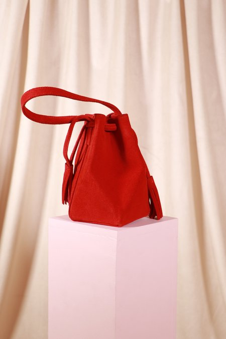The Common Knowledge Suede Mini Prism - Red