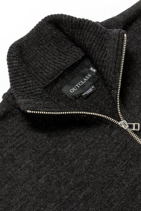 Outclass Mockneck Sweater - Charcoal Grey