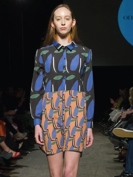 One Imaginary Girl Saturday Print and Color Block Shirt Dress - Floral Print