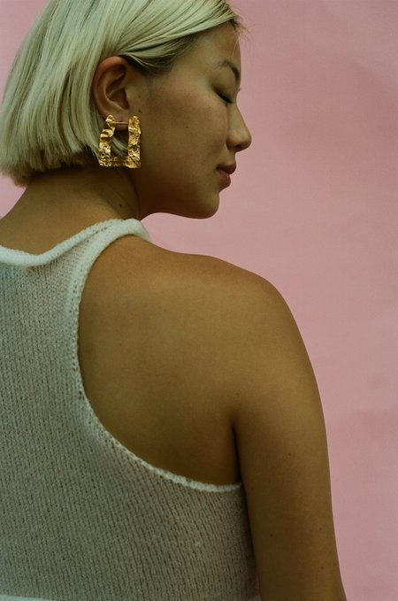 Victoria Mingot Large Hoop - Gold