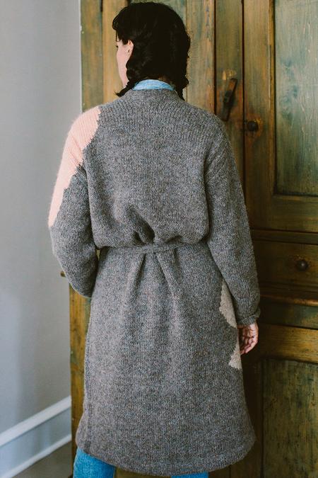 Hansel from Basel Long Cardigan - Brownish/Greyish