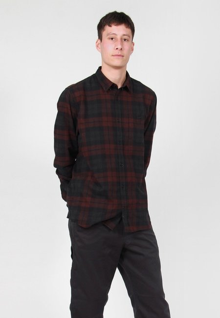 Norse Projects Anton Flannel Check Shirt - Eggplant Brown