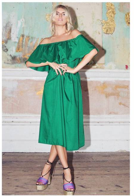 Never Fully Dressed Valentina Midi Dress - Emerald