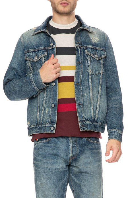 HBNS Denim Repair Jacket - Repair Blue