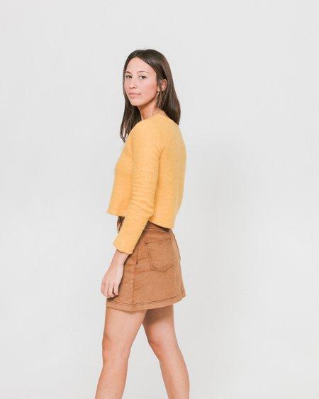 Side Party Mimi Corduroy Mini Skirt - Camel