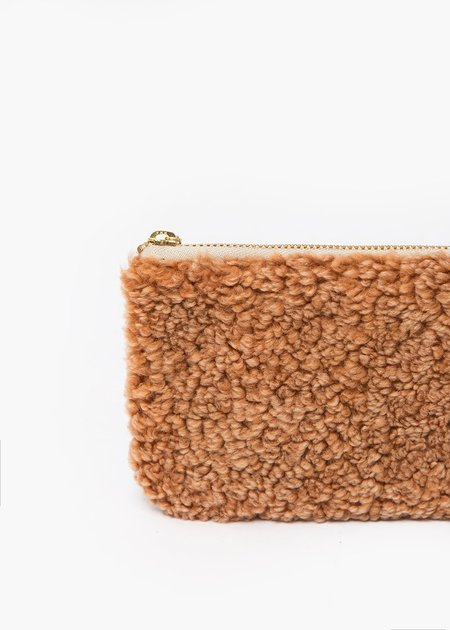 Erin Templeton Fuzzy Time For A Change Pouch - Brown