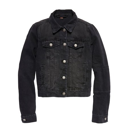 Free People Rumors Denim Jacket - Black