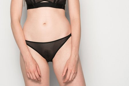 La Fille D'o Come Out Mid-Rise Brief - Black