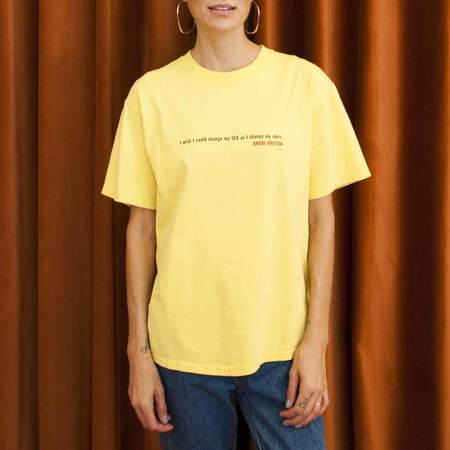 Vintage Procell Vintage I Wish I Could Tee - Yellow