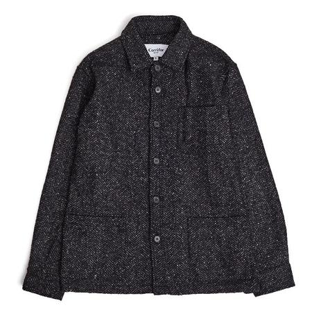 Corridor Italian Herringbone Wool Jacket - Charcoal