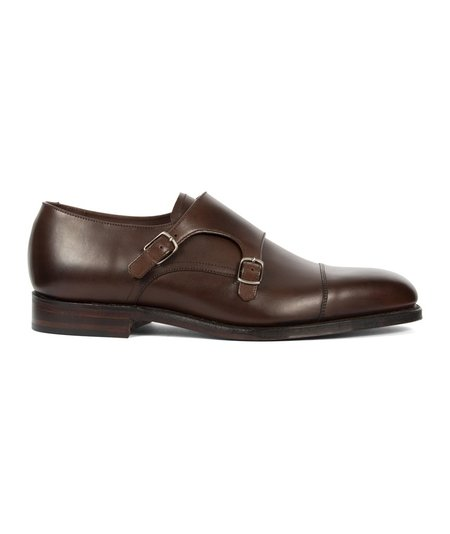 Loake Cannon Calf Monk Strap - Brown