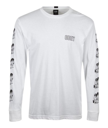 Obey Curious Kiddos L/S Tee - White
