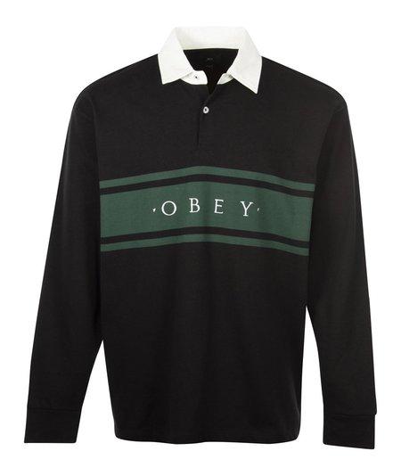 Obey Hero Classic L/S Polo - Black