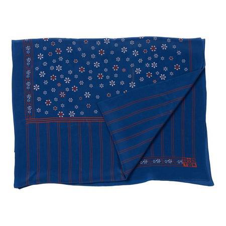 Bonton Groovy Silk Scarf - Blue