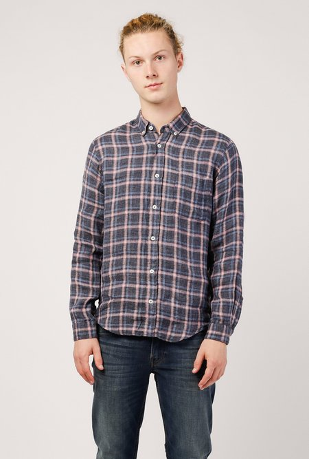 PRESIDENTS Chatham Linen Flannel Washed Shirt