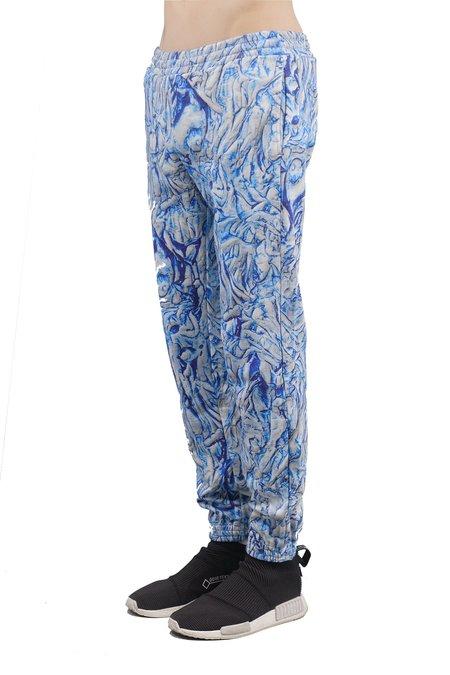 Julian Zigerli Fullemann Sweatpants - Blue Structure Print