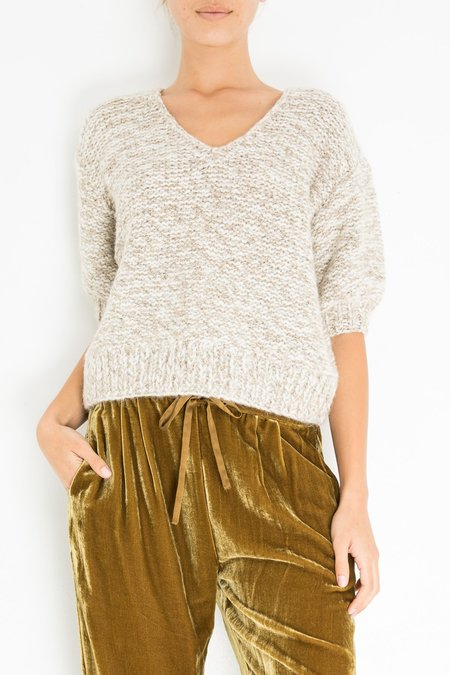 Mes Demoiselles Alpes Knitted Blouse - Ecru