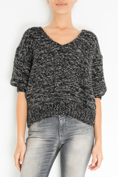 Mes Demoiselles Alpes Knitted Blouse - Grey