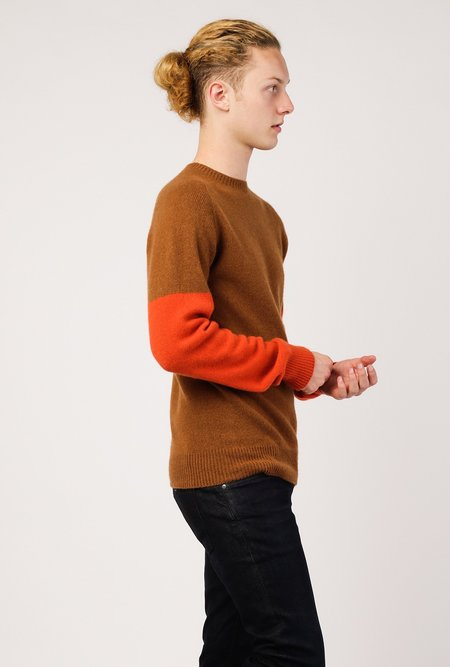 YMC Skate Or Die Cashmere Crew - Brown/Rust