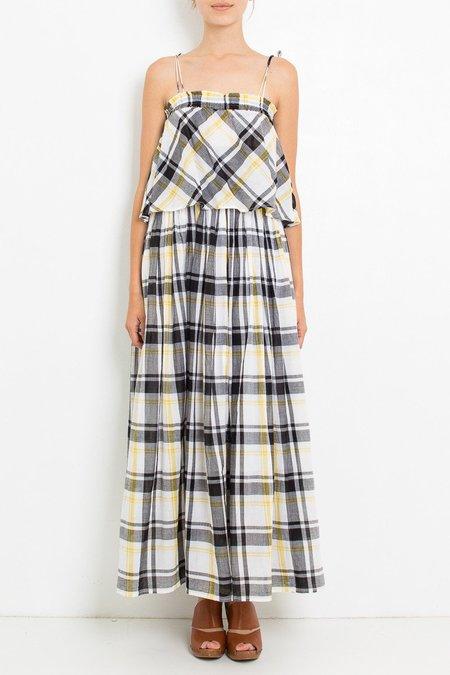 Ne Quittez Pas Maxi Dress - Check