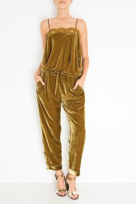 Mes Demoiselles Milo Velvet Pants - Khaki