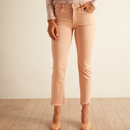 Mother Denim Rascal Ankle Step Fray - Powder Pink