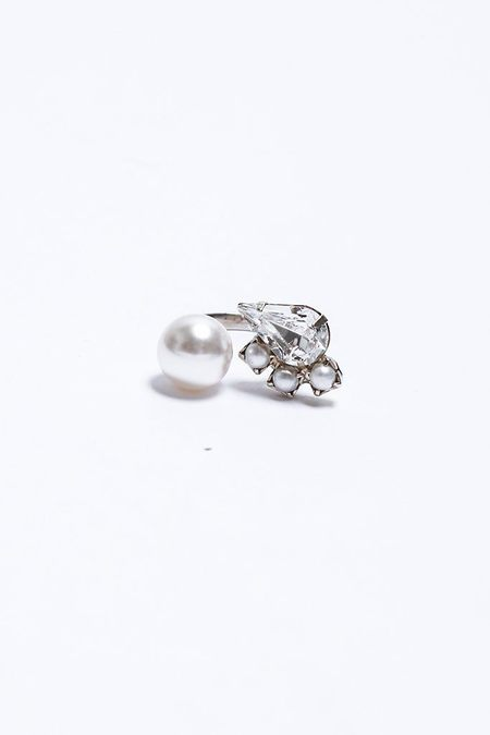 Joomi Lim Single Open Ring - Crystals/Pearls