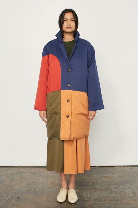Mara Hoffman Mabel Coat - Multi/Colorblock
