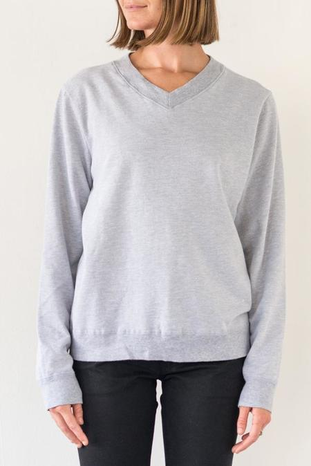 Save Khaki V-Neck Sweatshirt - Heather Grey