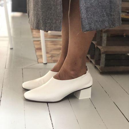 Gray Matters Micol Junior nappa leather pump - white